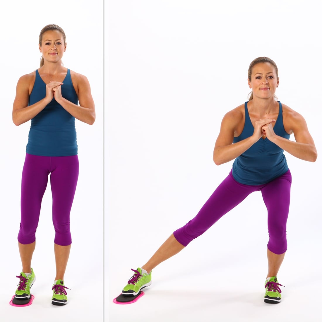Động tác Side (Lateral) Lunge with Gliding Discs